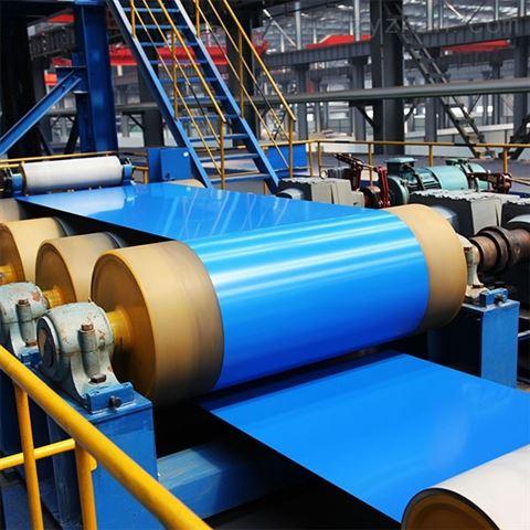 上海联净覆膜彩钢板生产线