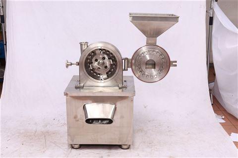 中药铺专用304不锈钢齿盘式麦冬麦芽粉碎机