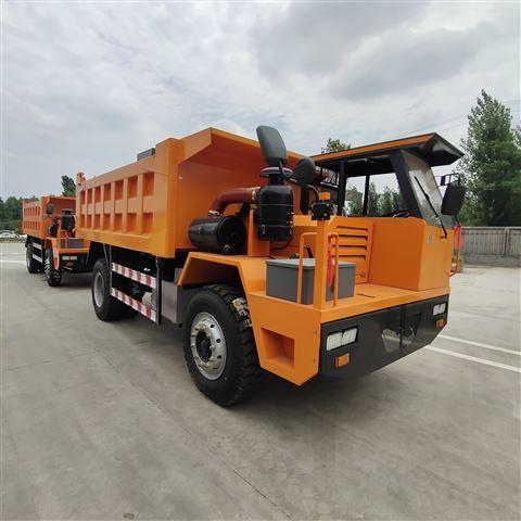青海省礦用六輪車地下拉礦石自卸車濕式制動