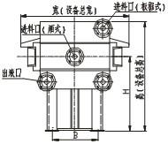 450/630/800型液压自动压紧压滤机_厢式/板框式压滤机管口结构示意图2